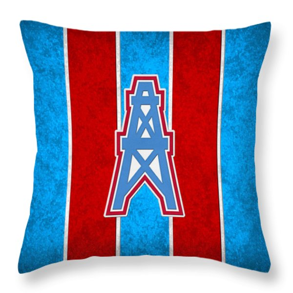 Houston Oilers Throw Pillow by Joe Hamilton