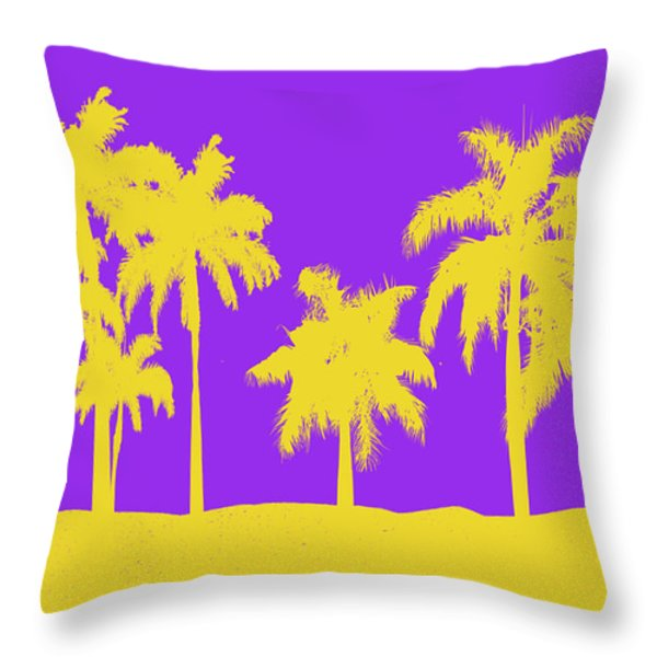 LOS ANGELES LAKERS Throw Pillow by Joe Hamilton