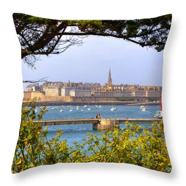 Saint-malo - Brittany Throw Pillow by Joana Kruse