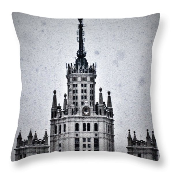 7 Towers Of Moscow Throw Pillow by Stelios Kleanthous