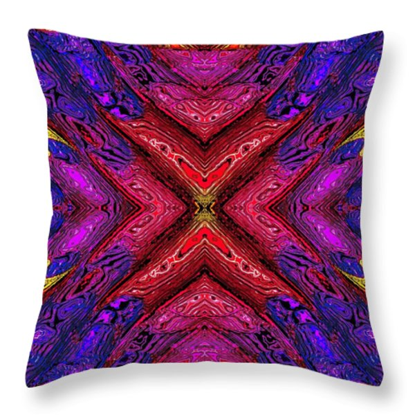 70's Blacklight Poster 6 Throw Pillow by Darrell Arnold
