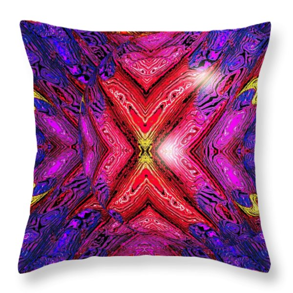 70's Blacklight Poster 6b Throw Pillow by Darrell Arnold
