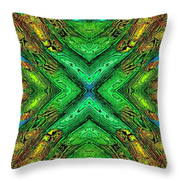 70's Blacklight Poster 8 Throw Pillow by Darrell Arnold