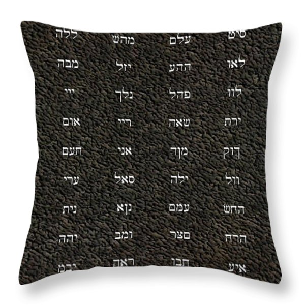 72 Names Of God Throw Pillow by James Barnes