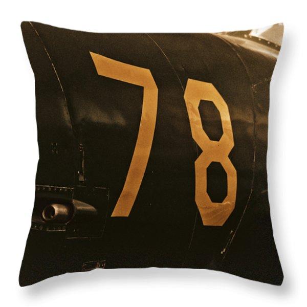 78 Throw Pillow by Christi Kraft