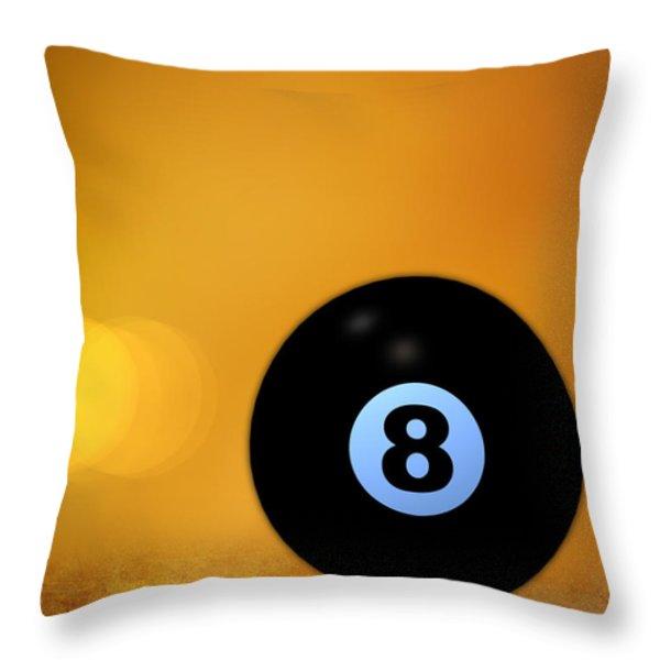 8 Ball Throw Pillow by Bob Orsillo