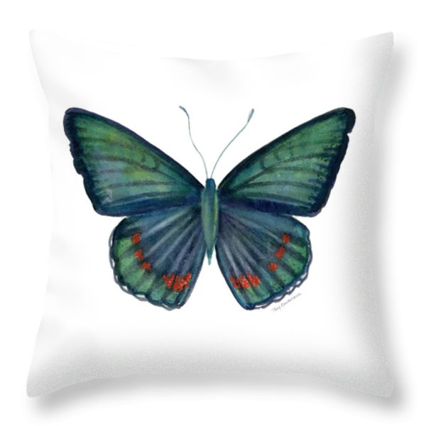 82 Bellona Butterfly Throw Pillow by Amy Kirkpatrick