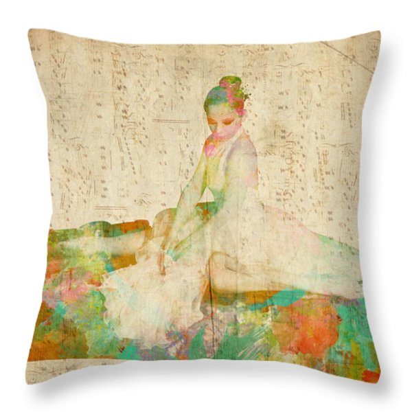 88 Keys to Her Heart Throw Pillow by Nikki Smith