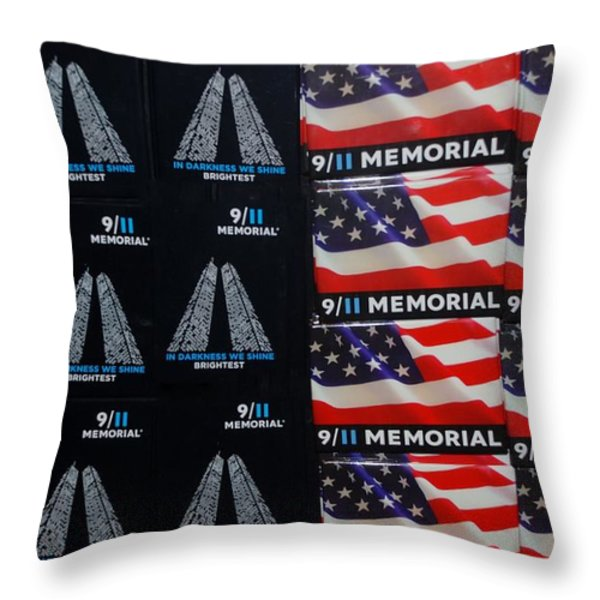 9/11 Memorial For Sale Throw Pillow by Rob Hans