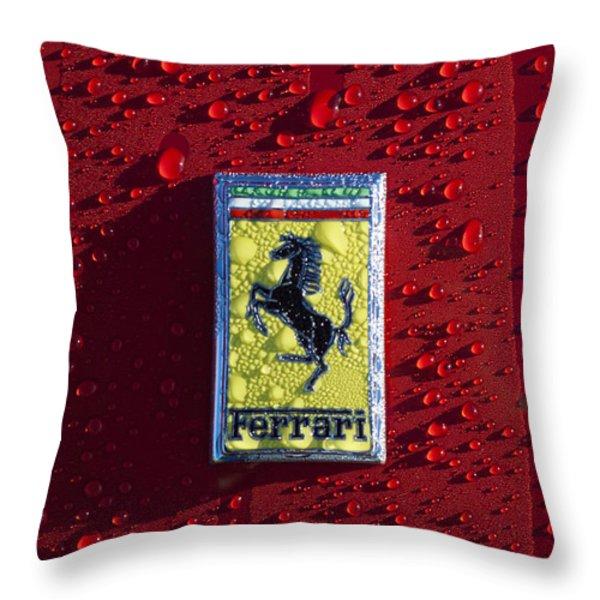 Ferrari Emblem Throw Pillow by Jill Reger