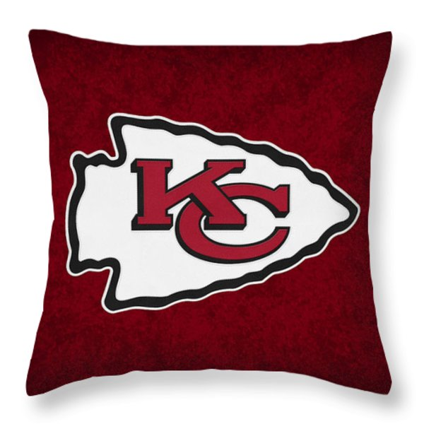 Kansas City Chiefs Throw Pillow by Joe Hamilton