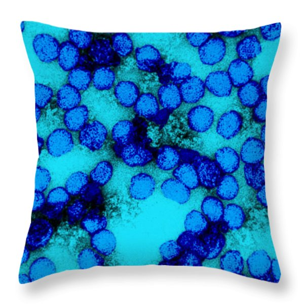 Yellow Fever Virus Tem Throw Pillow by Science Source
