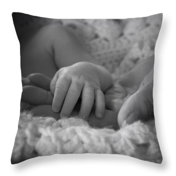 A Bambino's Trust Throw Pillow by Thomas Woolworth