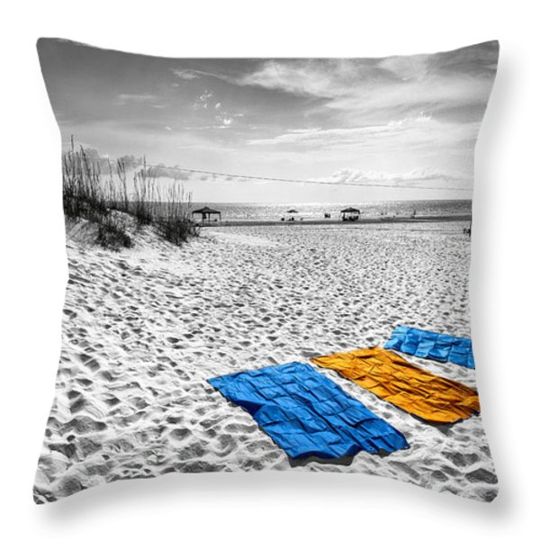a beautiful day Throw Pillow by Edward Kreis