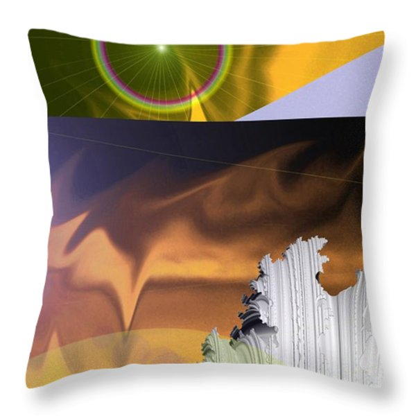 A BEAUTIFUL MAD MAD WORLD Throw Pillow by Jeff  Swan