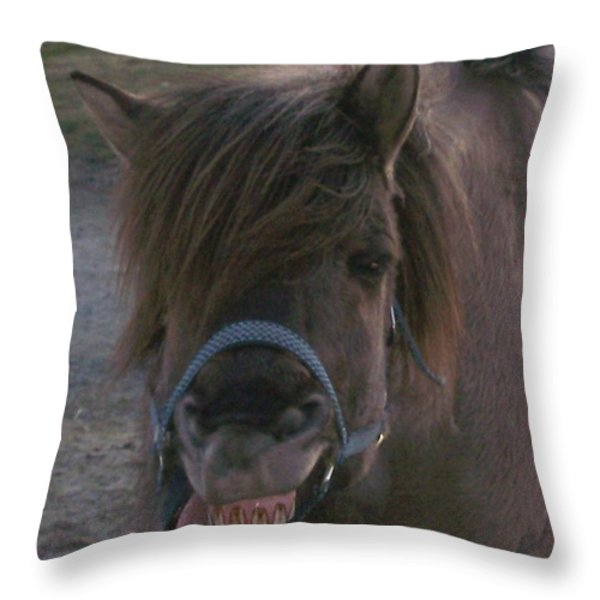 A big smile Throw Pillow by Hilde Widerberg