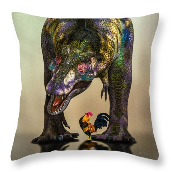 A Bird Are You Crazy Bro Throw Pillow by Bob Orsillo