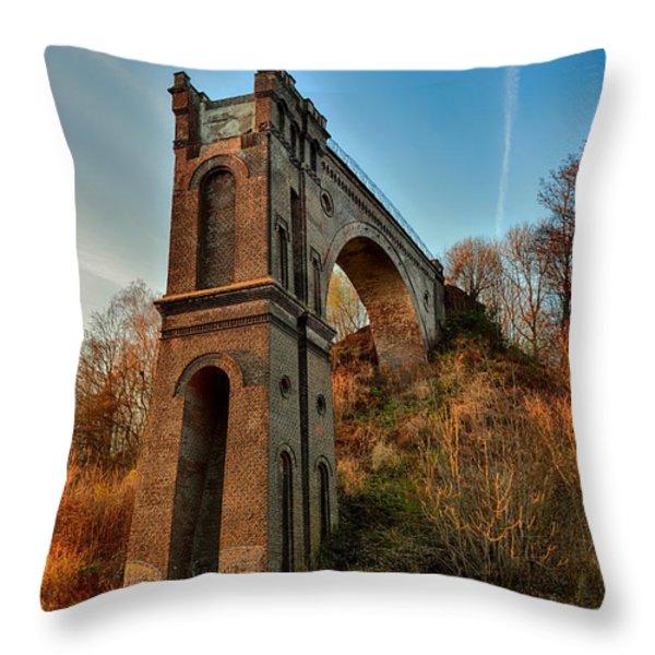 A Bridge No More Throw Pillow by Mountain Dreams