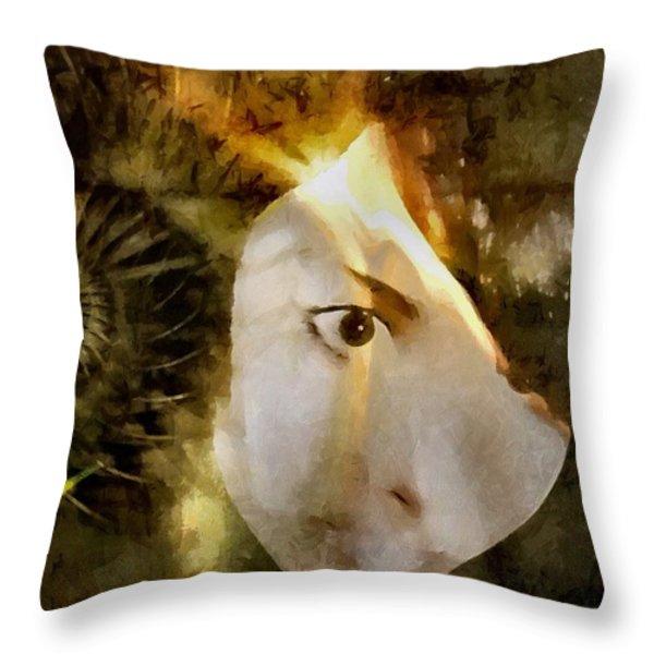 A bright idea Throw Pillow by Gun Legler