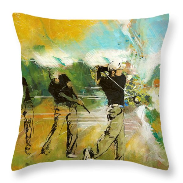 A Brilliant Shot Throw Pillow by Catf