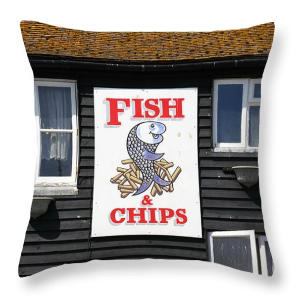 A British Institution Throw Pillow by James Brunker