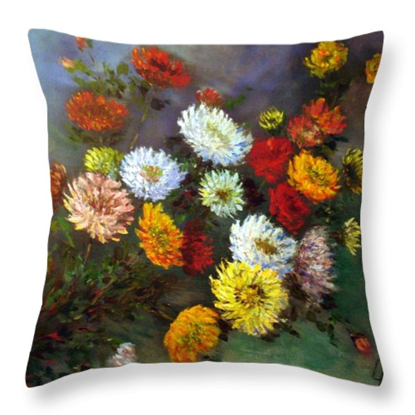 A Bunch Of Flowers Throw Pillow by Laila Awad  Jamaleldin
