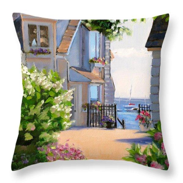 A Cape Cod Paradise Throw Pillow by Laura Lee Zanghetti