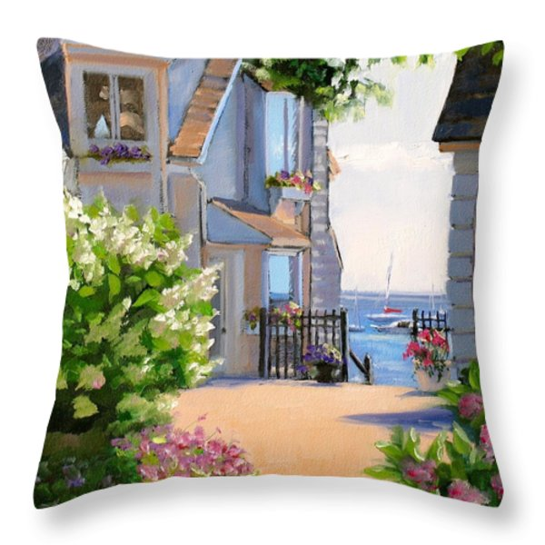 A Cape Cod Paradise Throw Pillow by Laura Lee Zanghetti