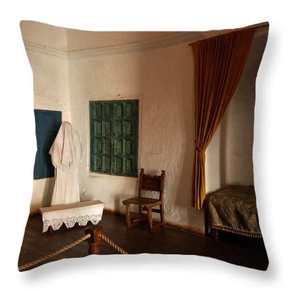 A cell in Santa Catalina Monastery Throw Pillow by RicardMN Photography