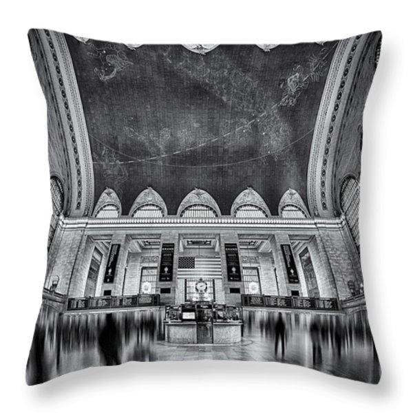 A Central View BW Throw Pillow by Susan Candelario