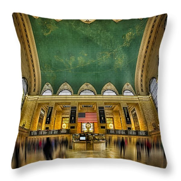 A Central View Throw Pillow by Susan Candelario