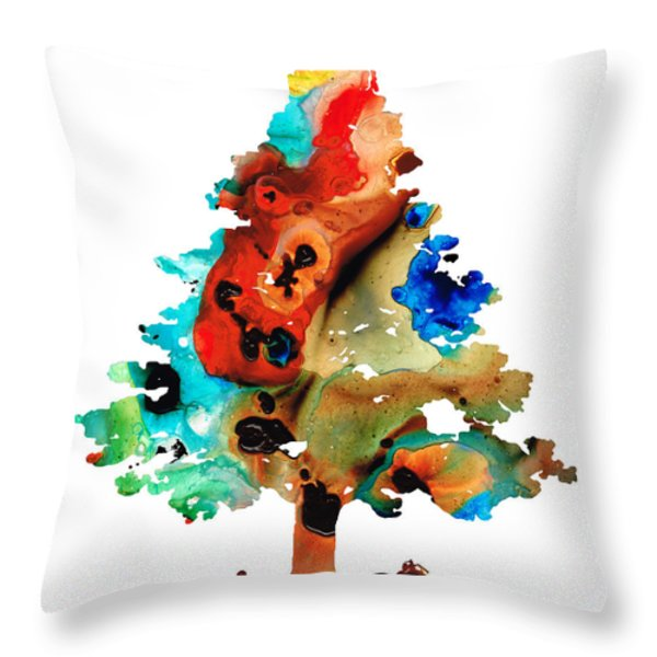 A Certain Kind Of Freedom - Guitar Motorcycle Art Print Throw Pillow by Sharon Cummings