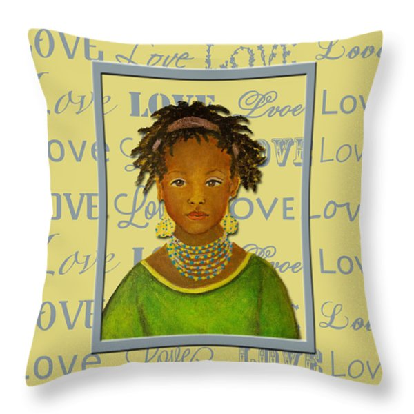 A Child's Whispers Of Love Throw Pillow by The Art With A Heart By Charlotte Phillips