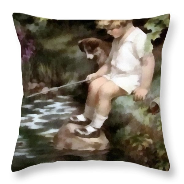 A Chip Off The Old Block Throw Pillow by Bessie Pease Gutmann