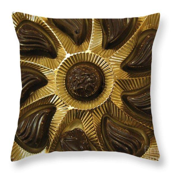 A Chocolate Sun Throw Pillow by Ausra Paulauskaite