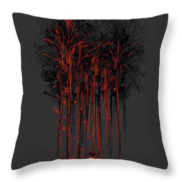A crimson retaliation Throw Pillow by Budi Satria Kwan