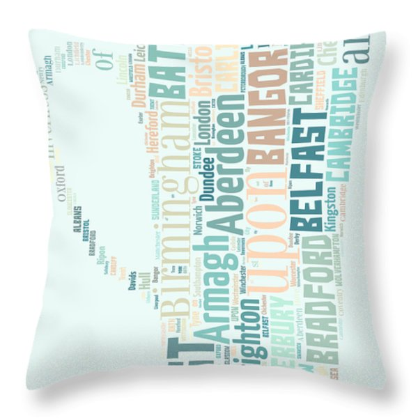 A Cup Of Britain Throw Pillow by Georgia Fowler