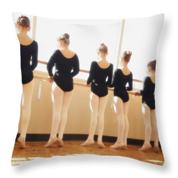 A Dance Class Throw Pillow by Don Hammond