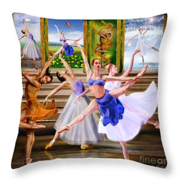 A Dance For All Seasons Throw Pillow by Reggie Duffie