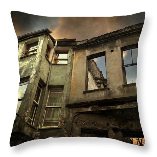 A Day in Balat Throw Pillow by Taylan Soyturk