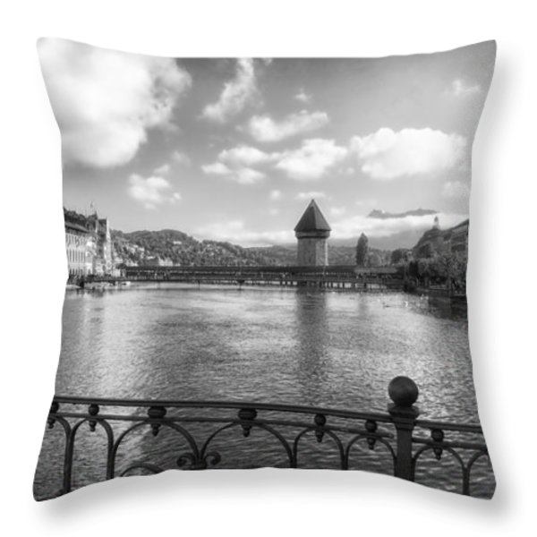 A Day in Lucerne Throw Pillow by Mountain Dreams