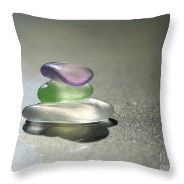 A Delicate Balance Throw Pillow by Barbara McMahon
