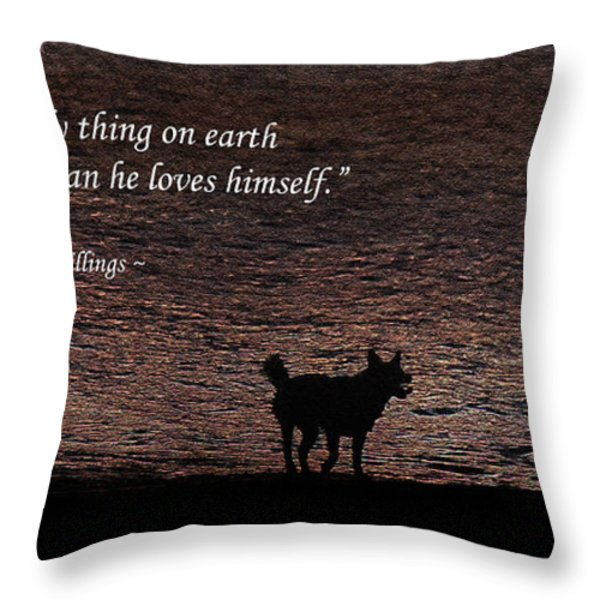 A Dog Throw Pillow by Olahs Photography