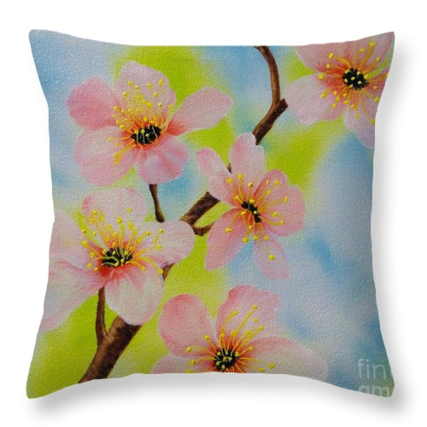 A Dream Of Spring Throw Pillow by Carol Avants
