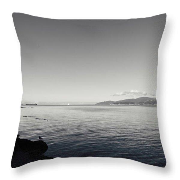 A Drop in the Ocean Throw Pillow by Lisa Knechtel