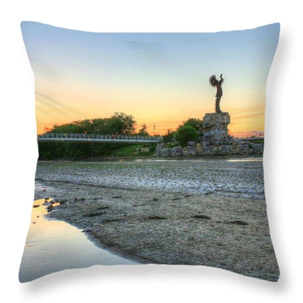 A Dry Heat in Wichita Kansas Throw Pillow by JC Findley