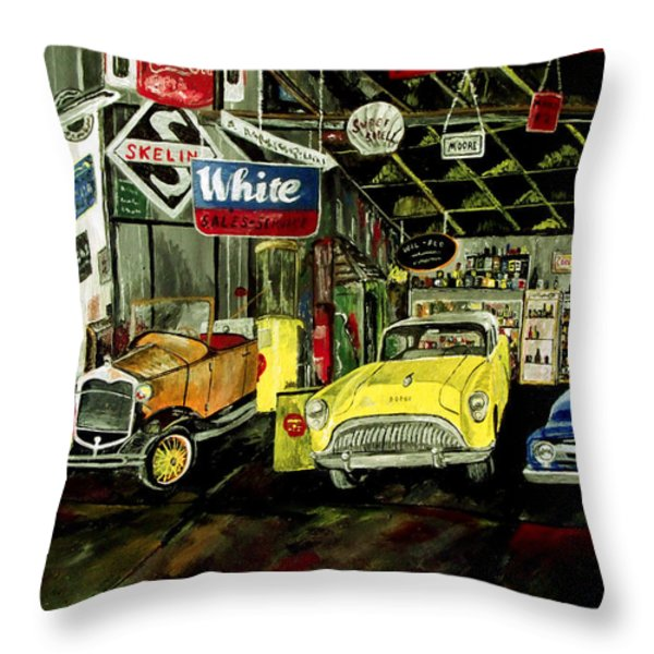 A Fine Time  Throw Pillow by Mark Moore