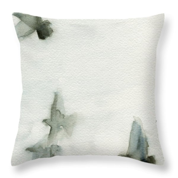 A Flock Of Pigeons 1 Watercolor Painting Of Birds Throw Pillow by Beverly Brown Prints