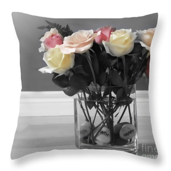 A Foundation Of Love Throw Pillow by Cathy  Beharriell