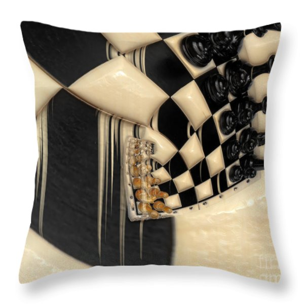 A Game Of Chess Throw Pillow by Liane Wright